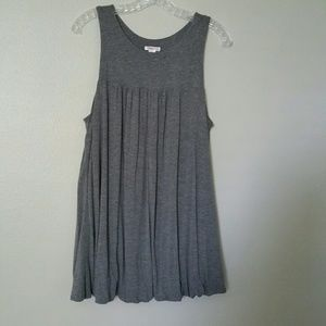 Xhilaration Gray Sleeveless Tunic/Short Dress XXL